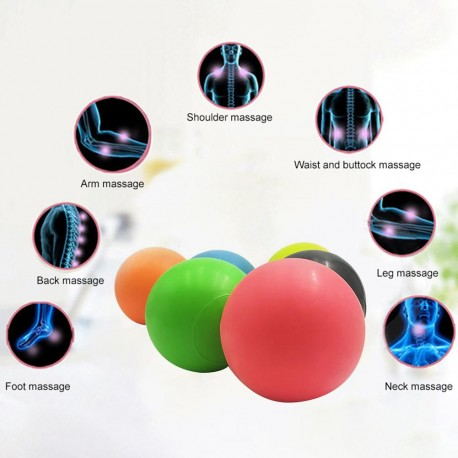 TPE Lacrosse Ball Fitness Relieve Gym Trigger Point Massage Ball Training Fascia Hockey Ball Massage Ball	63mm Lacrosse Ball Fit