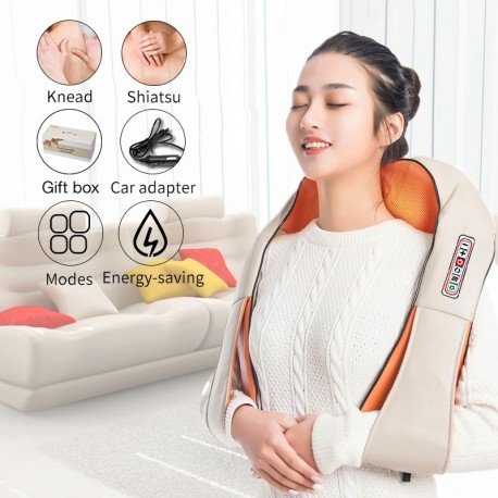 U Shape Electrical Shiatsu Back Neck Shoulder Body Massager Infrared Heated 4D Kneading Car/Home Massagem