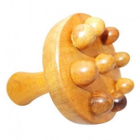 Meridian yoga stick body massager stomach back waist neck leg massage stick wooden roller massage hammer