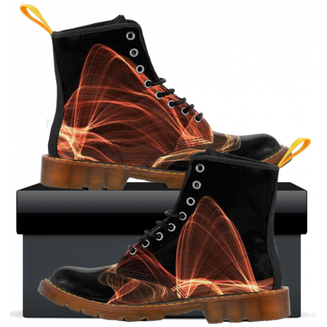 Mens Canvas Boots - Black Flux