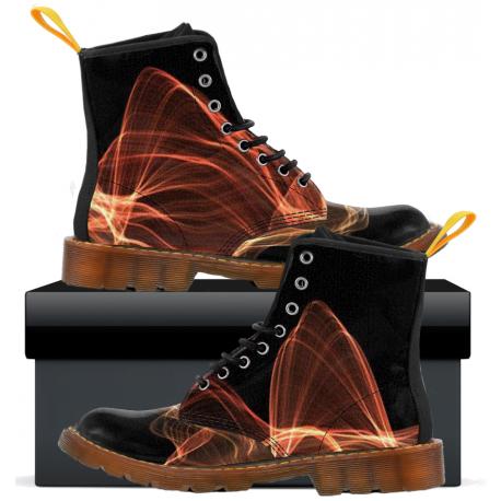 Mens Canvas Boots - Black Flux