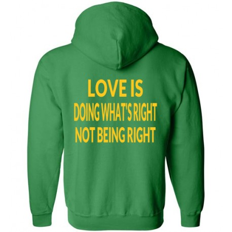 DOING RIGHT ZIP HOODIE LOGO GOLD