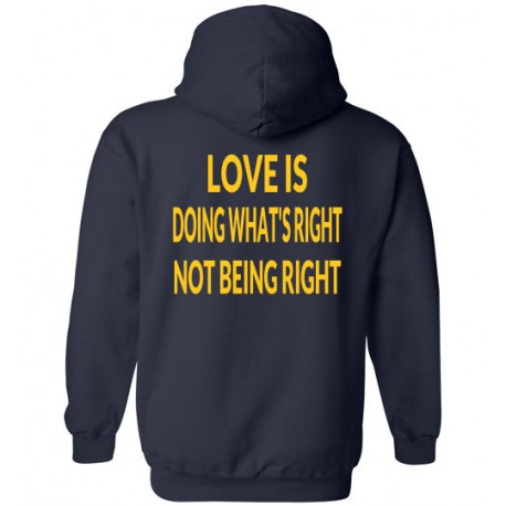 DOING RIGHT HOODIE LOGO GOLD
