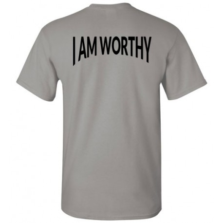 WORTHY TSHIRT LOGO BLACK