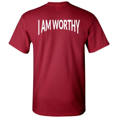 WORTHY TSHIRT LOGO WHITE