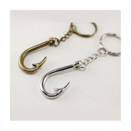 Vintage Fish Hook Keychain