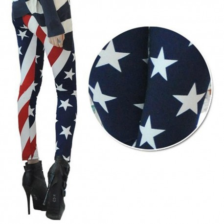 Women American Flag High Waist Sports Gym Yoga Legging