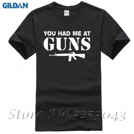 You Had Me At Guns Mens Tee Top Gun Rights 2nd Amendment Redneck Gift Tee