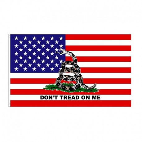 3x5 foot American Flag  Dont Tread on Me Gadsden Flag
