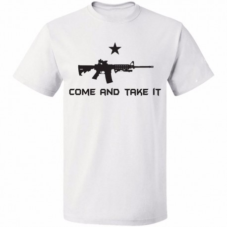 Come and take it Shirt Rifle Gun and Star 2nd Amendment Right to Bear Arms