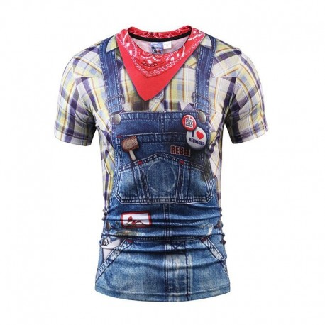 Cool Faux Real Rednecks Cowboy 3D Print Tshirt