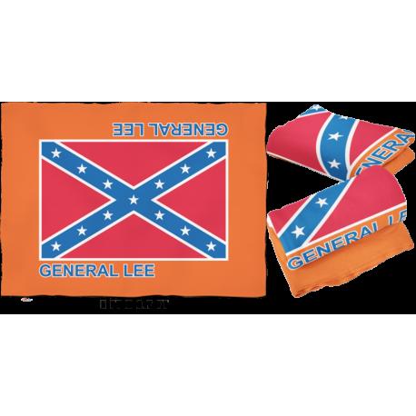 Large General Lee Fleece Blanket