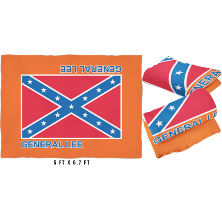 Large General Lee Fleece Blanket