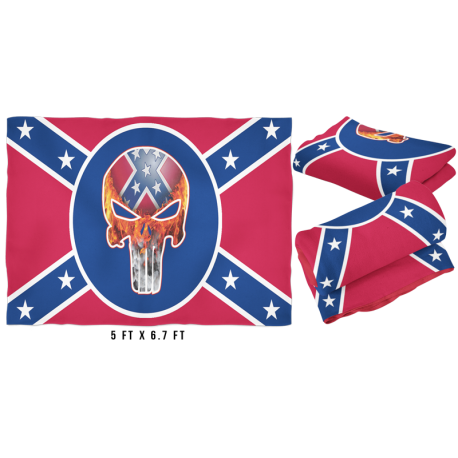 Large Punisher Battle Flag Fleece Blanket