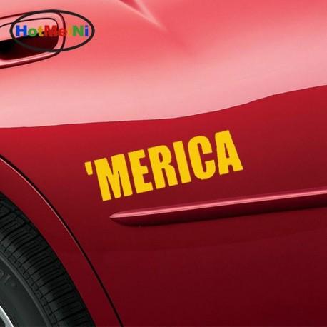 Merica Funny Pride Redneck Car Sticker