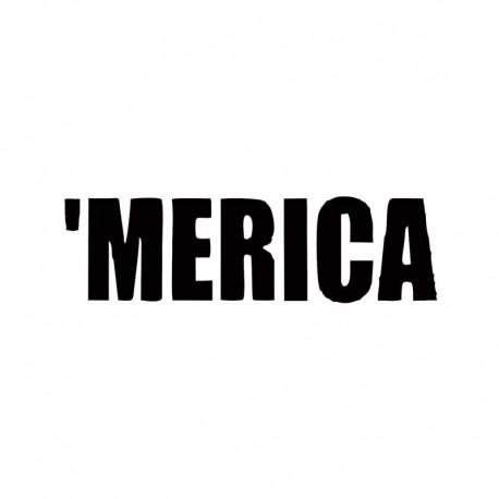 Merica Vinyl Car Window Decal America USA Funny Pride Redneck Sticker Decor