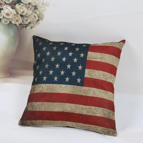 National Flag Pillow Case Sofa Waist Throw Cushion Cover Home Decor