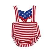Newborn Baby USA Flag Striped Star Rompers Jumpsuit