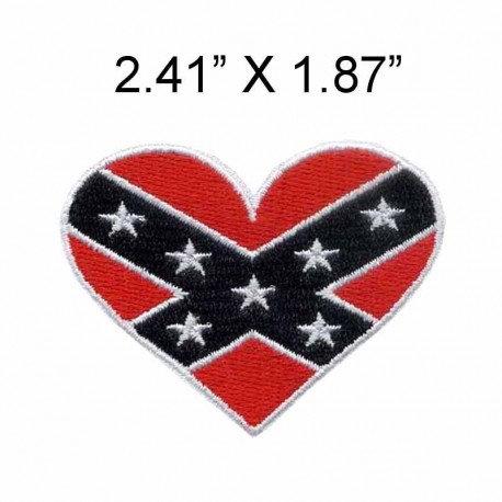 """Red heart  embroidery patch 2.41"""" wide /Rednecks/hot cut/ironing style"""