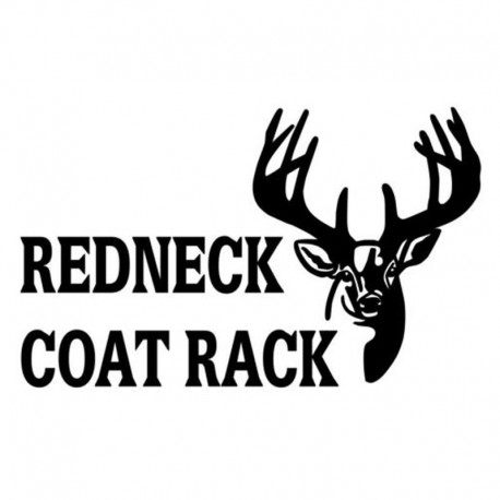 Redneck Coat Rack Vinyl Car Sticker