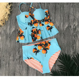 Sexy Tankini Push Up, High Waisted, Reversible Bottom