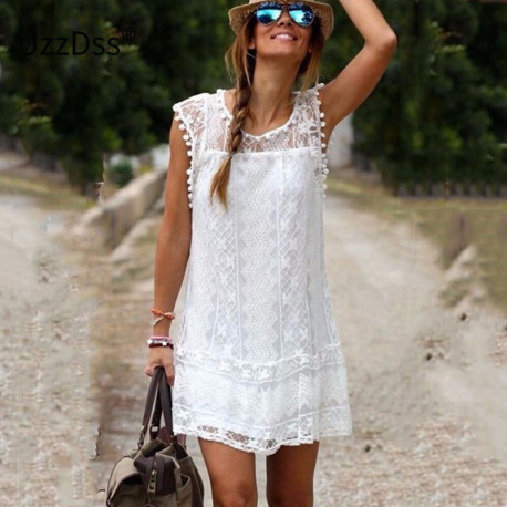 Lace Beach Short Dress