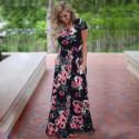 Floral Print Boho Maxi Dress