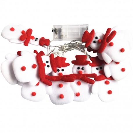 Flat Snowmen LED String
