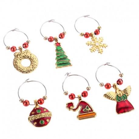 Christmas Glass Rings