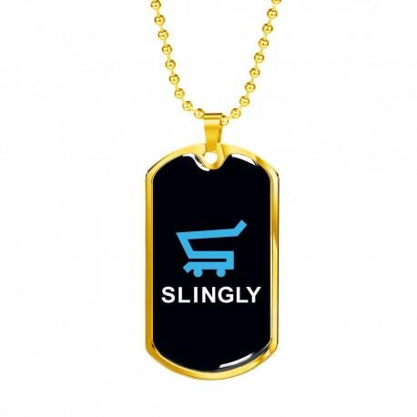 Slingly - Gold Dog Tag