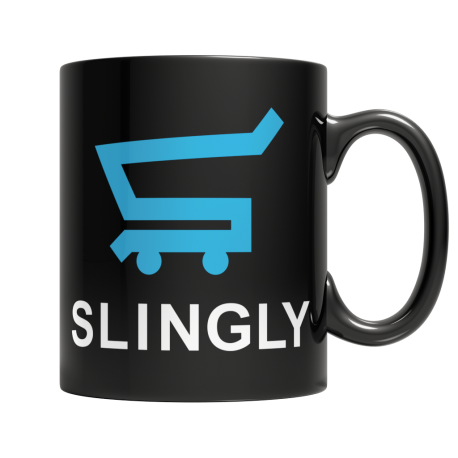 Slingly - Black Mug