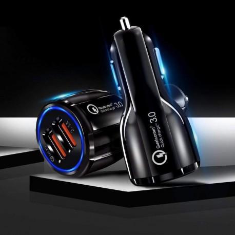 2 Port USB Quick Car Charger 3.0