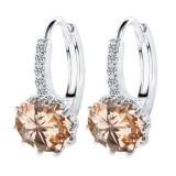 Cubic Zircon Round Stud Earrings