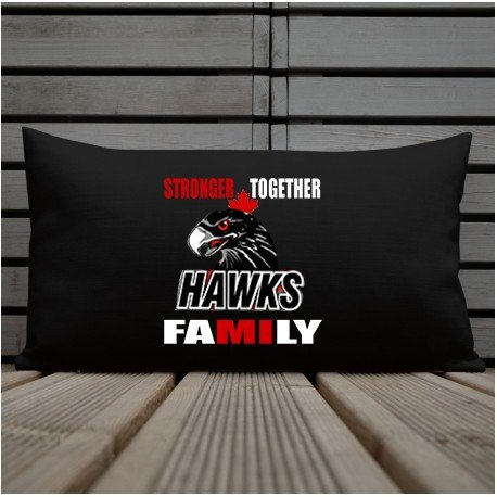 Stronger Together Hawks Premium Pillow 12 x 22
