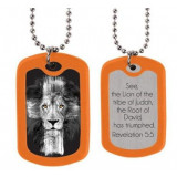 Dog Tags Lion Christian