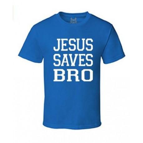 GRAPHIC CHRISTIAN DESIGN TShirt Gseagle Men's M009TS PRINTED JESUS SAVES BRO