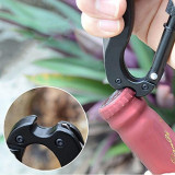 High Quality 5 In 1 Outdoor Survival Steel Camping Climbing Multifunctional Knife Screwdriver Carabiner