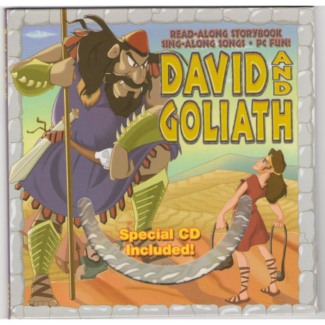 Bible Story Book David And Goliath with CD