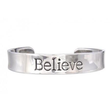 Bracelet Quantum Jewelry Believe Stainless Steel Cuff