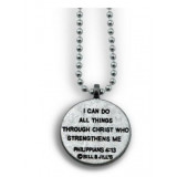 """""""I Can Do All Things Through Christ - Forgiven Jewelry Basketball Necklace"""