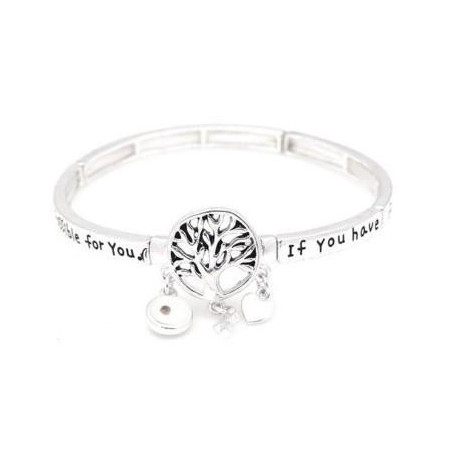 Mustard Seed Stretch Charm Bangle Bracelet Tree Of Life Christian Bible Scripture Verse Poem
