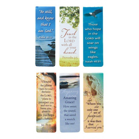 Set of 6 Beautiful Scripture and Words of Inspiration  Magnetic Bookmarks