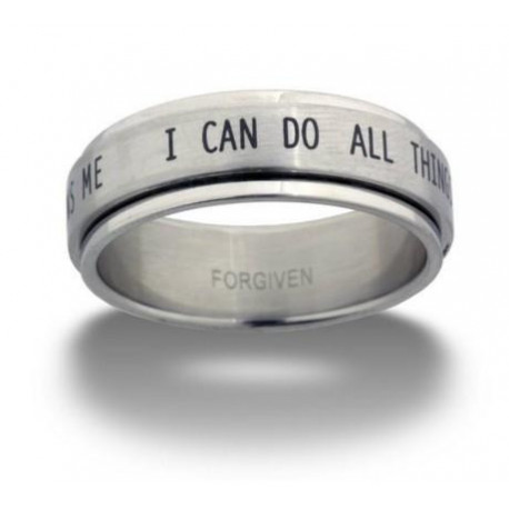 Spinner Ring Phil 4:13 I Can Do All Things through Christ