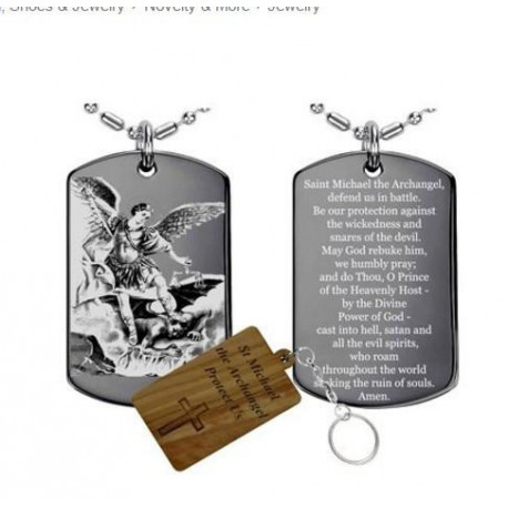 The archangel prayerMedalNecklace Stainless Steel  St Michael