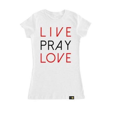 Women's Live Pray Love Christian T Shirt Radiate Apparel