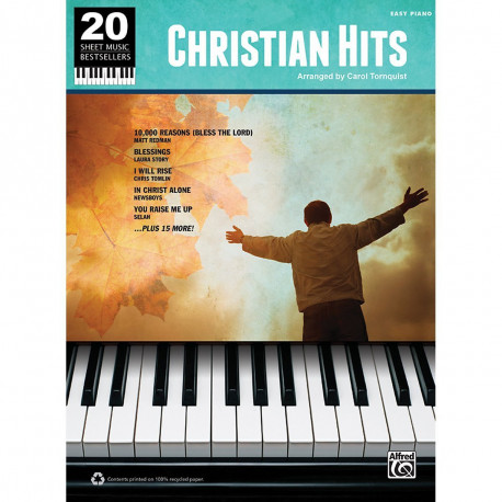 Christian Hits Easy Piano Book 20 Sheet Music Bestsellers - Alfred