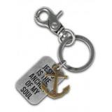 Christian Keychain Anchor Faith Gear