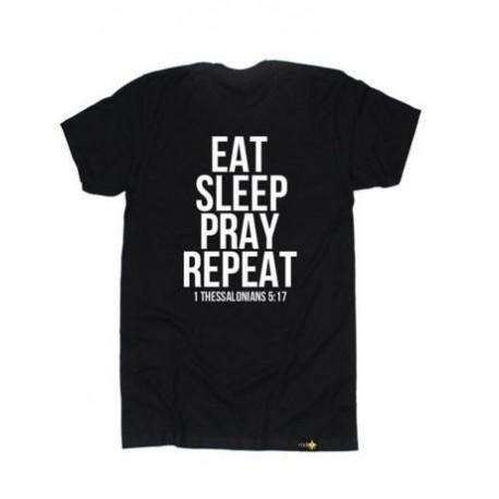 Christian T Shirt Radiate Apparel Men's Eat Sleep Pray Repeat