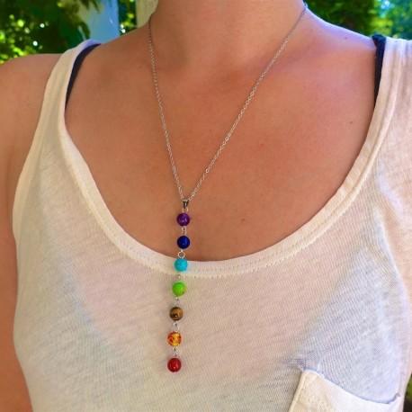 7 Chakra Stone Healing Necklace