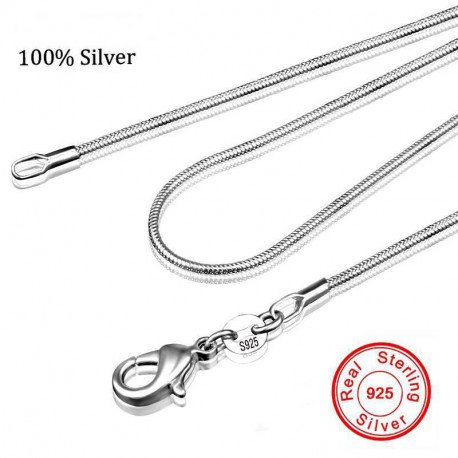 100% Authentic Solid 925 Sterling Silver Chokers Necklace